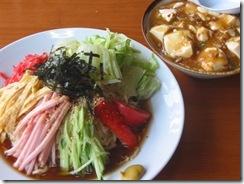 冷し中華ミニマーボ丼セット